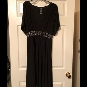 Black Dress with beaded waist